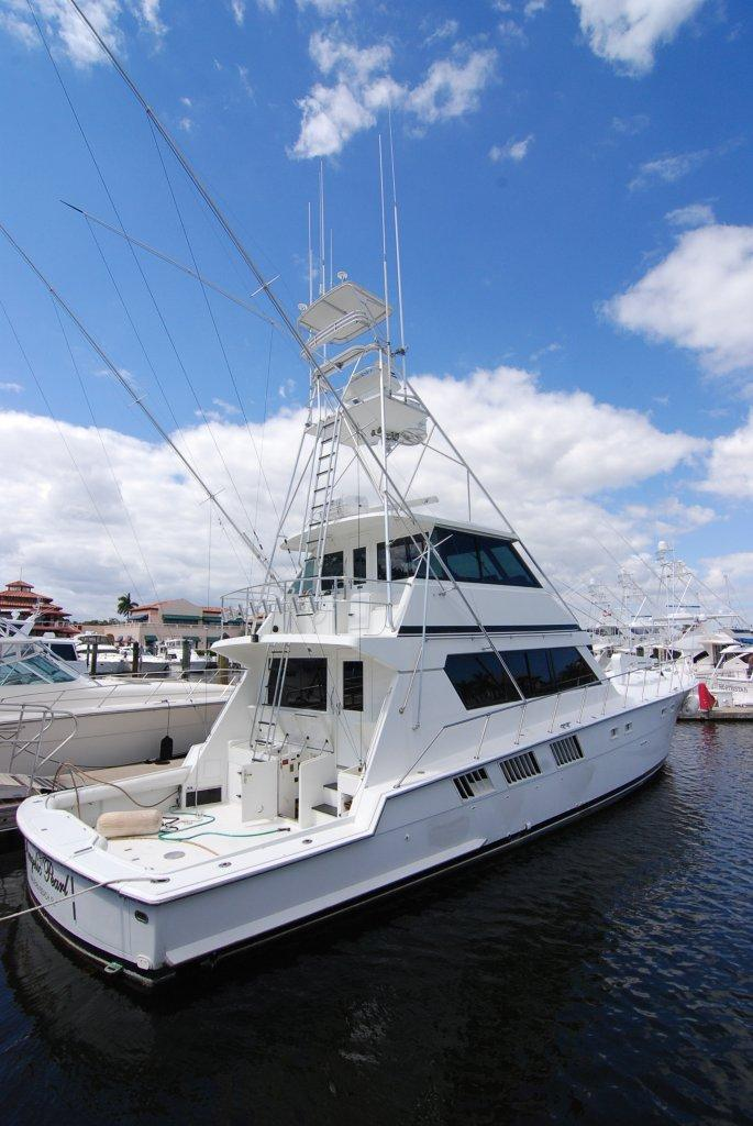 Current Boat is a 1989 65 Hatteras enclosed Bridge