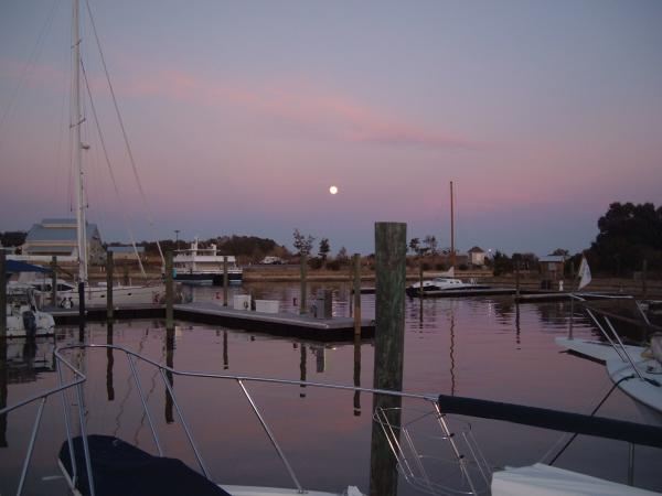 Moon Rise Off The Bow