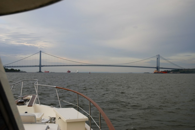 Approaching the Verrazano Bridge bound for Cape May