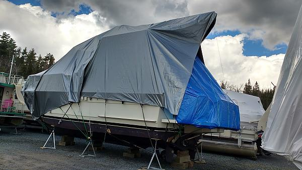 2015 boat covered for winter