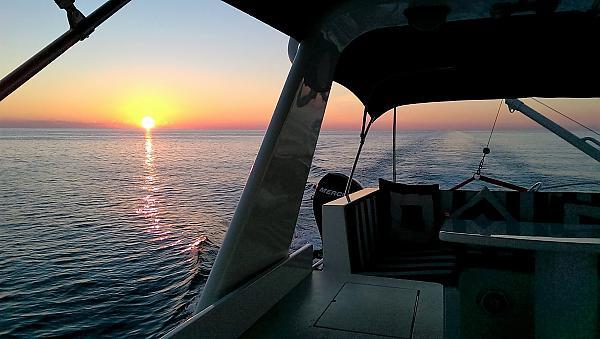 Gulf sunset between Pensacola and Panama City