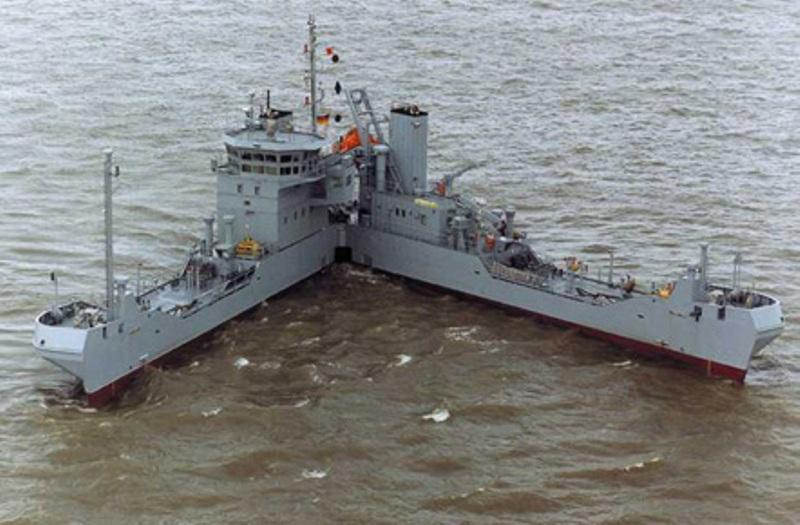wierd ship